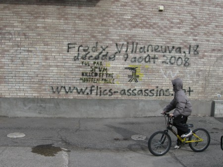 Fredy Villanueva, 18, killed August 8, 2008, by the Montreal Police